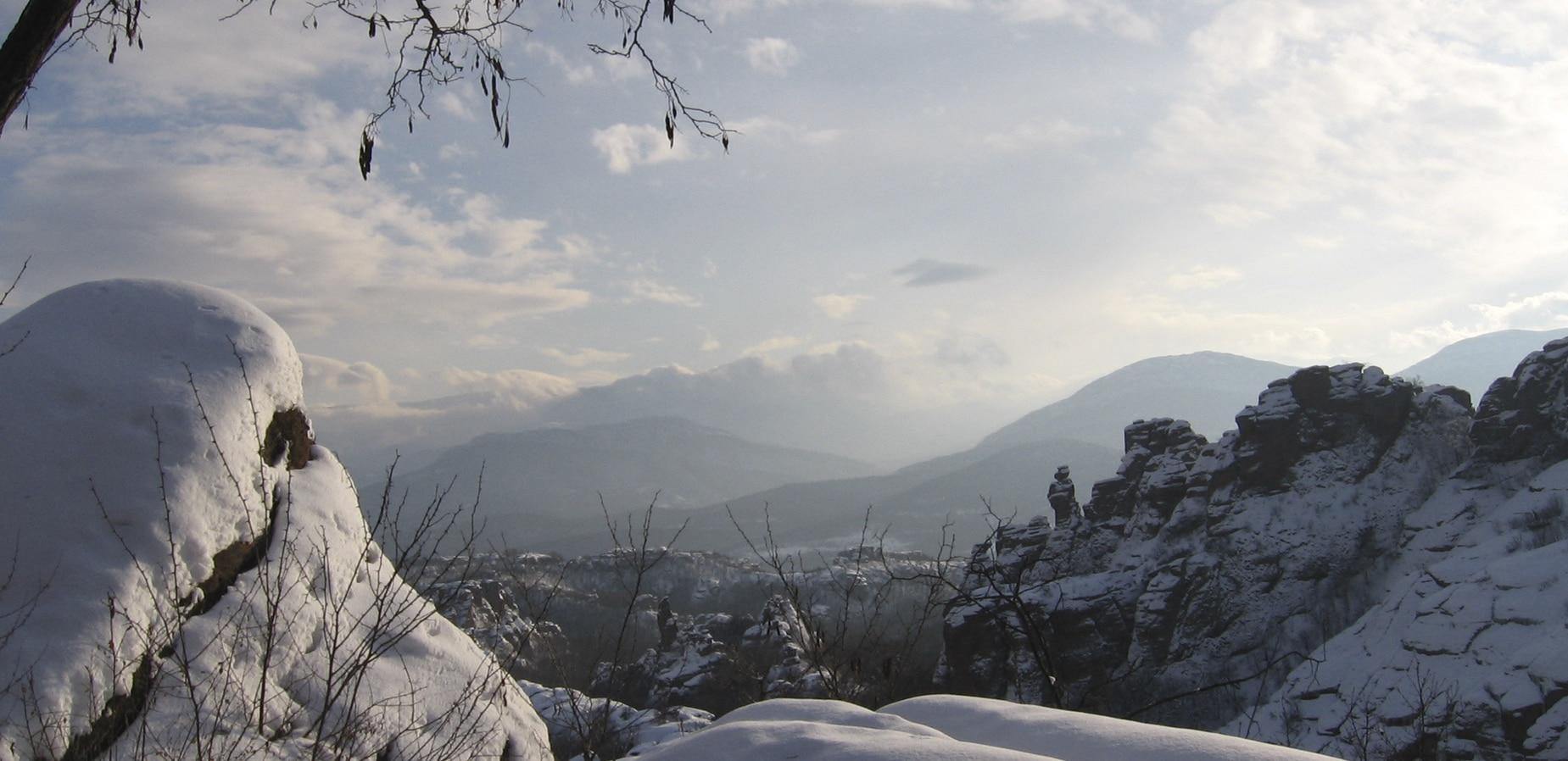 Района около изба Боровица - Зима