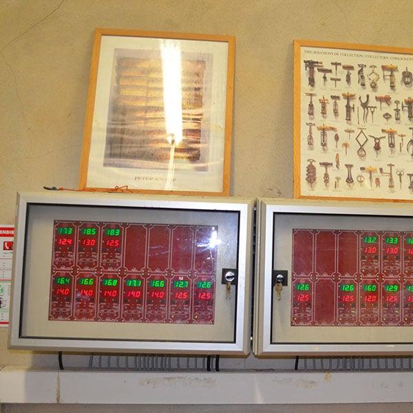 Табло за контрол на температурата