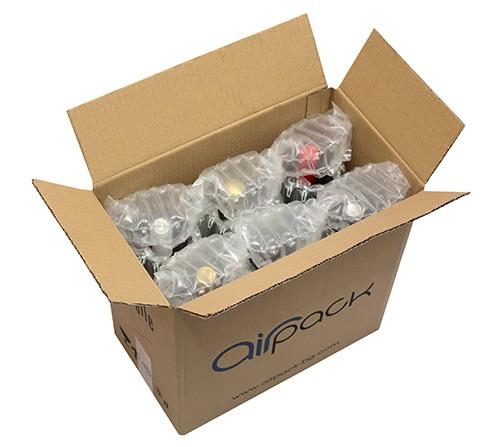 Опаковки за бутилки AirPack с кашон за транспортиране